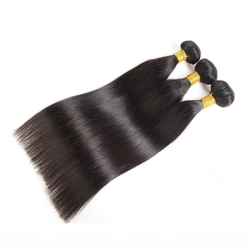 Beautystarquality Indian Indian Straight Wave Malaisien Vierge Vierge Cheveux humains non transformés Remy Bonds de cheveux Extensions de trame 3 pièces