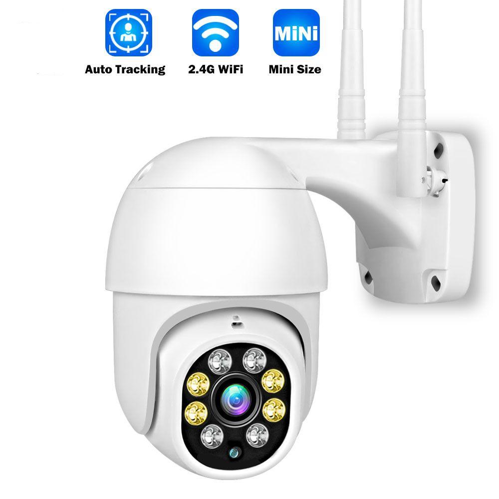 1080p HD Caméra IP Outdoor Smart Home Security Caméra CCTV Caméra WiFi Speed Dôme Caméra PTZ ONVIF 2MP Couleur Night Vision