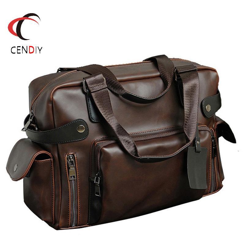 Messenger Bag Men Leather Fashion Handbag Crazy Horse cartella degli uomini di lusso di marca per borse a spalla uomini borsa da viaggio maschio commerciali LJ200930