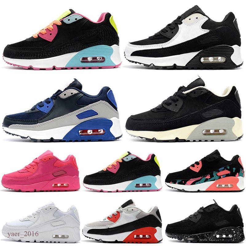 Zapatos atléticos para niños Presto 90 II Zapatos para niños Black Baby Infant Sneaker 90 niños deportes niños zapatillas de deporte chicas niños joven entrenador