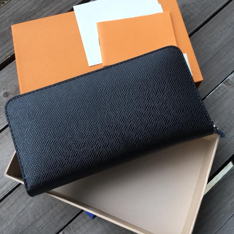Les femmes porte-monnaie sac à main femme hommes unique zipper mode femmes portefeuille en cuir dame dames longue bourse avec carte boîte orange 60017 de LB82 livraison gratuite