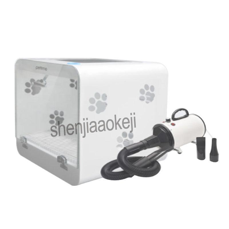 Nova secagem em forma de caixa automático para animais de vidro temperado + acrílico tipo placa pequena para animais de estimação secador de cabelo secador de exibição de temperatura inteligente