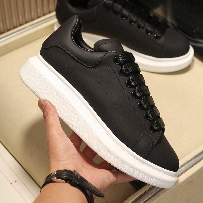 Мужская платформа для платформы Женщины повышенные классические белые черные замши сияющие алмазные кожаные модные кроссовки плоский дизайнер повседневная обувь
