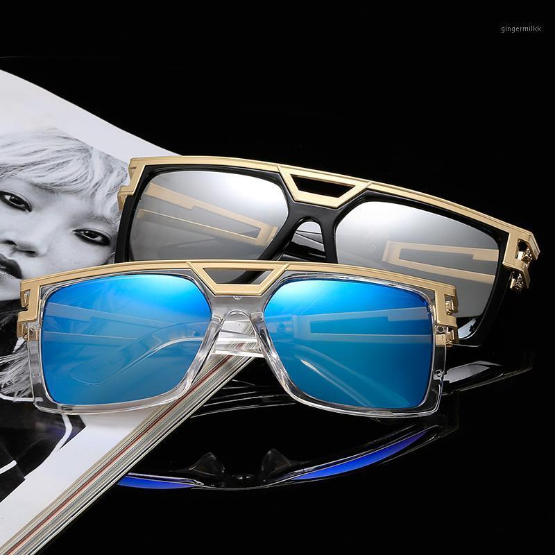 Sunglasses 2021 Titta Mirror Metallic Fashion Street Snap Retro Square Multi-color Ocean Color UV4001