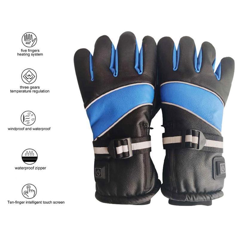 Électrique Gants chauffants Chauffe-main 3000mAh Chauffe-batterie doigts de charge Sécurité extérieure moto ski cyclisme Gants chauds