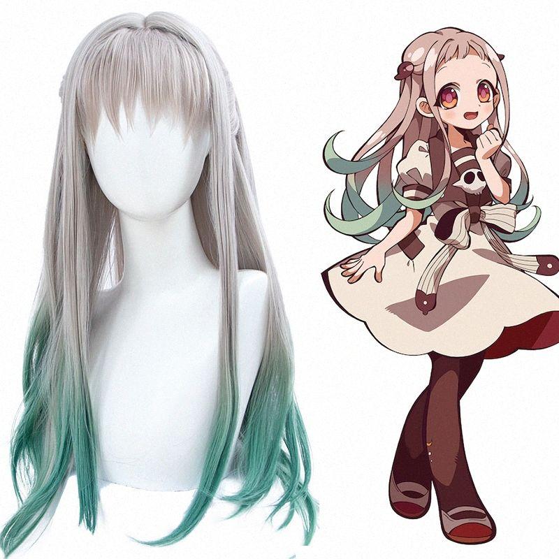 Dianqi Anime WC Limite Synthetic Jibaku Shounen Hanako Kun Cosplay Perucas Nene Yashiro Especial Peruca Gradiente de cor Feminino Perucas Perucas Bl dCDK #