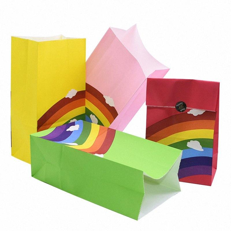 13x8x23.5 Cm Papiertüten für Geschenk Süßigkeiten Wrapping Sachets Babyparty Geburtstag Festival-Party-Biscuits Verpackung Papier Geschenk-Box A5Hu #