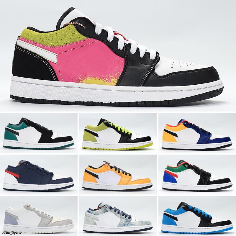 Новые низкие Jumpman 1 1s корзина обувь серый черный парус OG SP Travis Скоттс UNC гипер королевских N7 тапок женщин тренеров