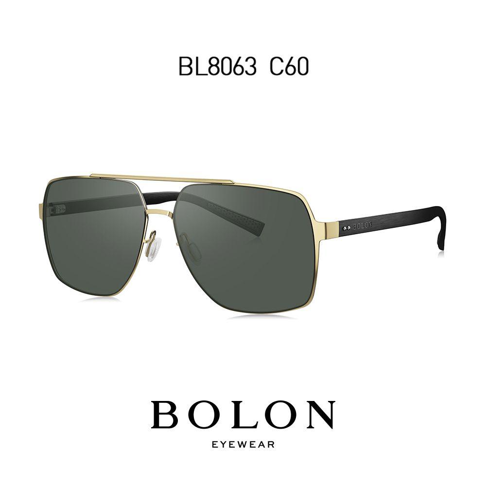 BOLON Extra Large Sonnenbrillen Herren Doppel-Brücke Navigator Sun Glasses (Verfügbar für Myopie anpassen) BL8063