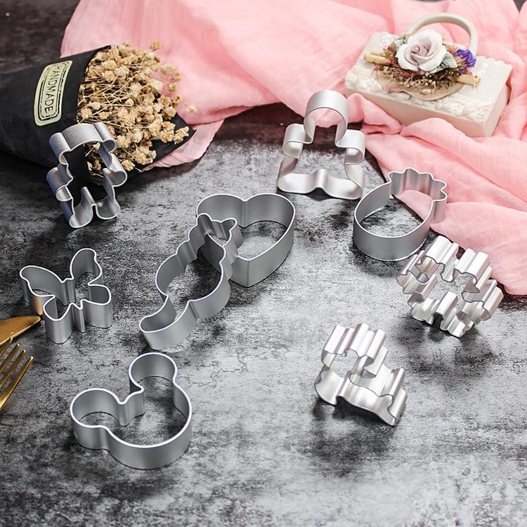 (41) 스타일 비스킷 DIY 금형 스타 심장 커터 베이킹 금형 알루미늄 합금 쿠키 커터 플런저 스텐실 과자 T500427