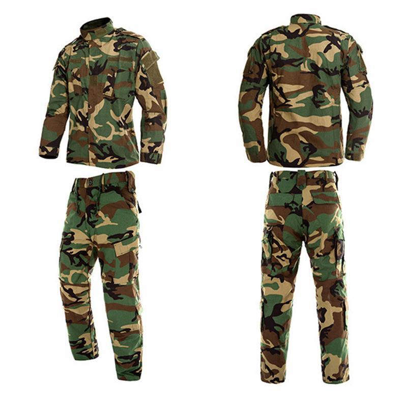 Man Jungle Camouflage 2PCs ArmyS Uniform Combat Airsoft Tactical Jacket Pants Clothing Set ACU CP Army Suit Wholesale