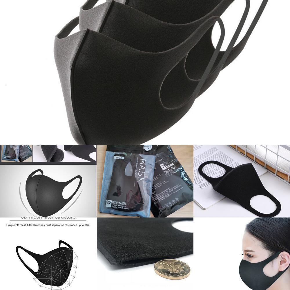 Waschbare Masken 5pcs / Tasche Schutzmaske Gesicht Anti Haze Staub Wiederverwendbare Frauen Männer Kind Anti-Staub PM2.5 Party Mund Maskjh