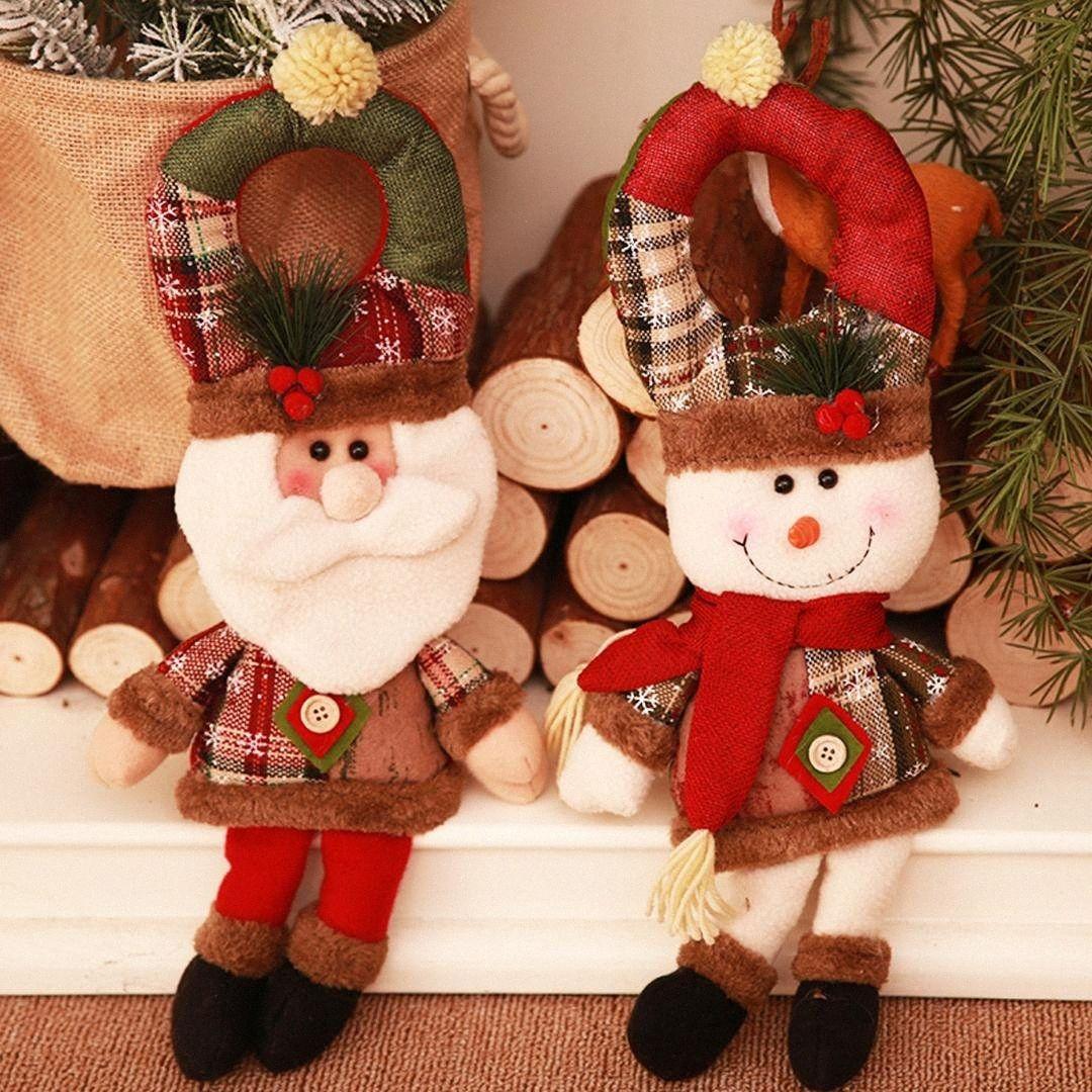 Рождество Ручка двери Подвеска Санта-Клаус снеговика куклы двери висячие украшения Украшение на Рождество Рождество Новый год Главная Поставка bUOg #