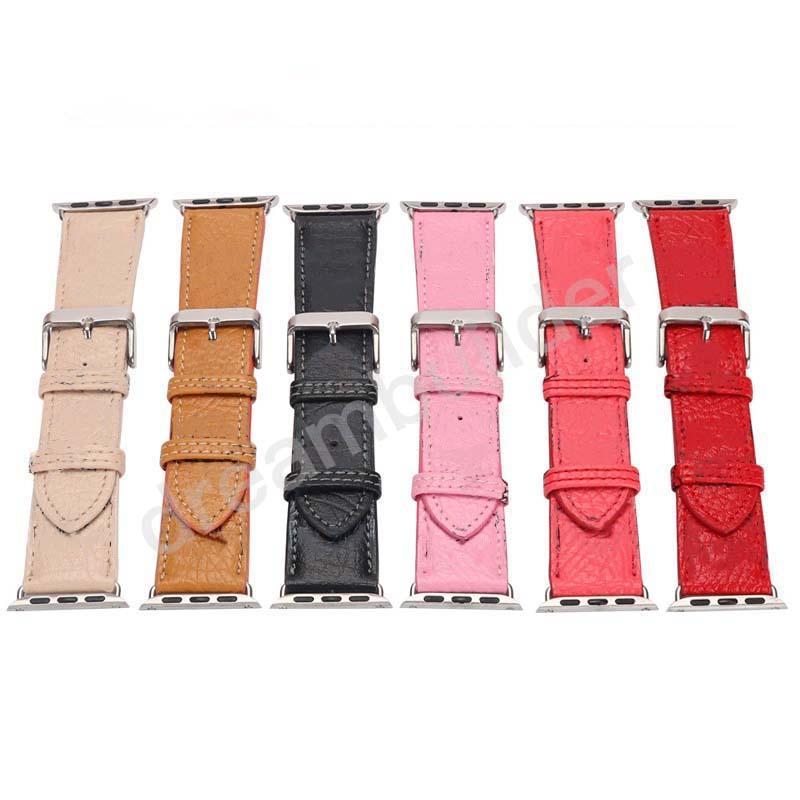 M Designer Watchbands per cinturino da orologio 42mm 38mm 40mm 44mm IWatch 1 2 3 4 5 Bands cinturino in pelle Bracciale Bracciale Strisce di moda