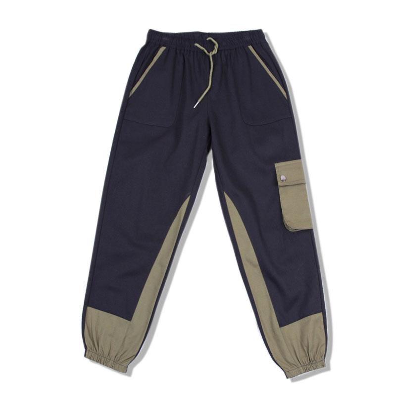 Harajuku Hommes Coton drôle Joggings de Nice Hommes Streetwear Homme Sweatpants Hip Hop Fashions coréenne Pantalons Pocket piste