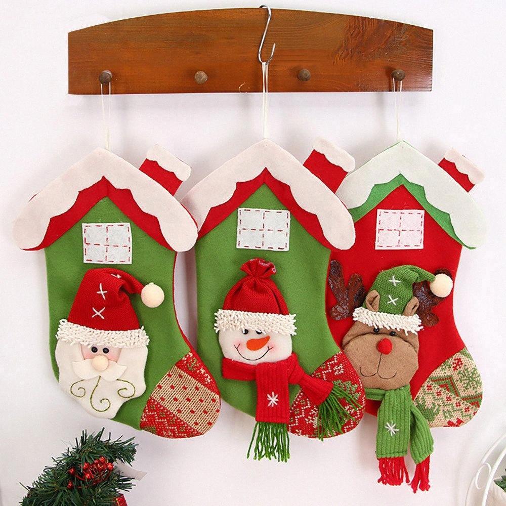 Neue Weihnachtsweihnachtsmann-Strumpf Ornament Snowman New Year Geschenke Sock Für Privatanwender Weihnachtsbaum Ornamente Geschenk Halter Strümpfe Gj4R #