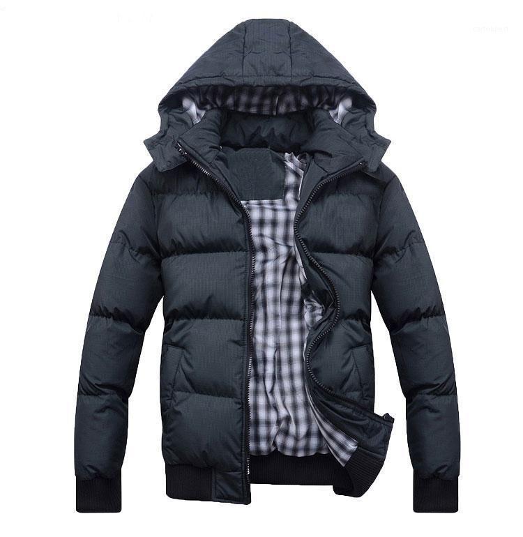 Casaco de inverno masculino casaco de algodão acolchoado quente escuro cinza