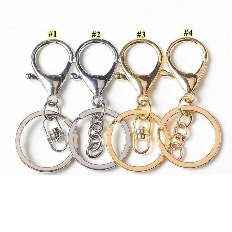NOUVEAU Silver Gold Biger Homester Fermoir Tonille Tonille Round Split Porte-clés Touches de voiture Porte-clés Blanches Métal Keychains Gjowa