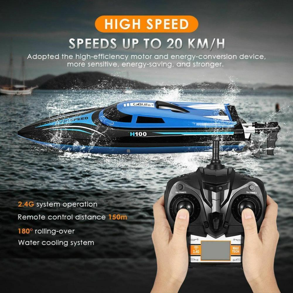 New Remote Control Boat Speed Racing High Speed Water Cooled RC Speedboat Toy Ship Model Educational Children's Toys 201204