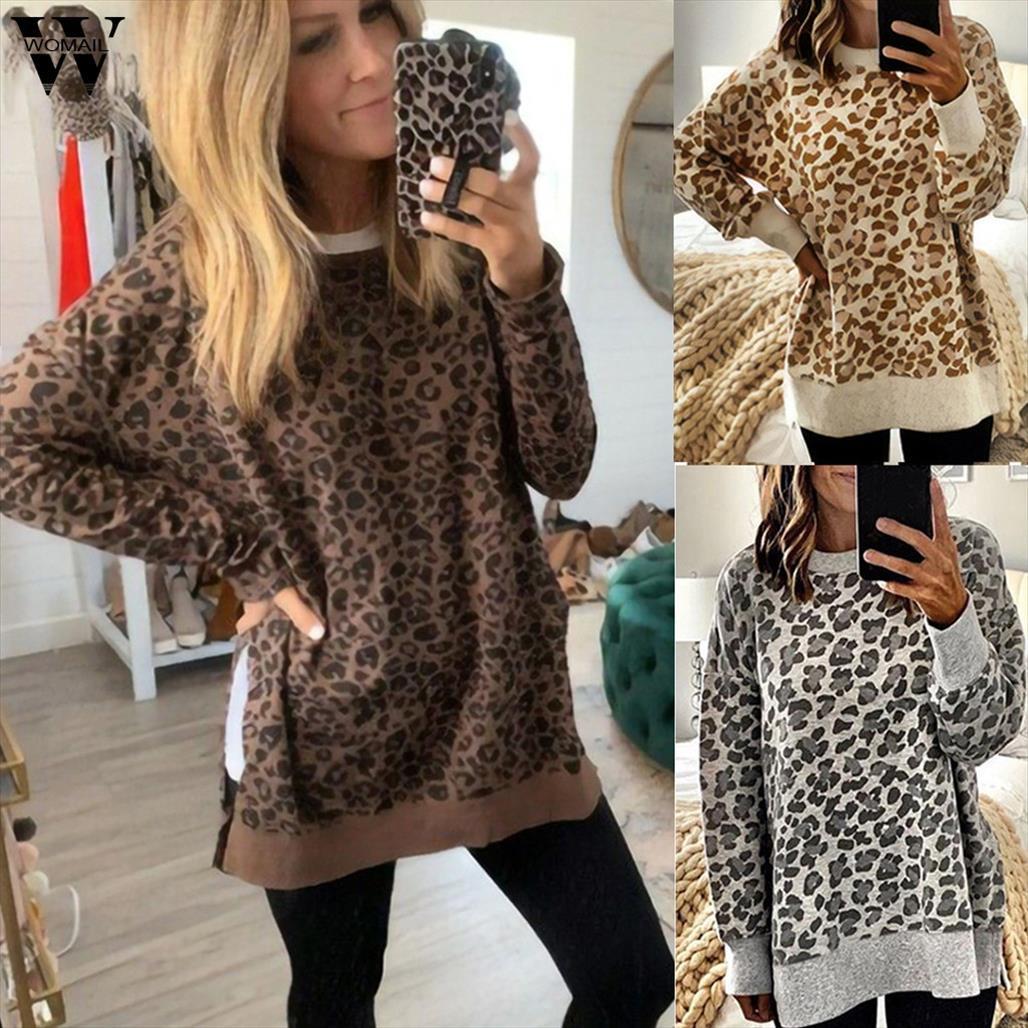 Felpe inverno o collo di esplosione leopardo felpe comoda di modo allentato alla moda superiore Felpa pullover trasporto di goccia di buona qualità