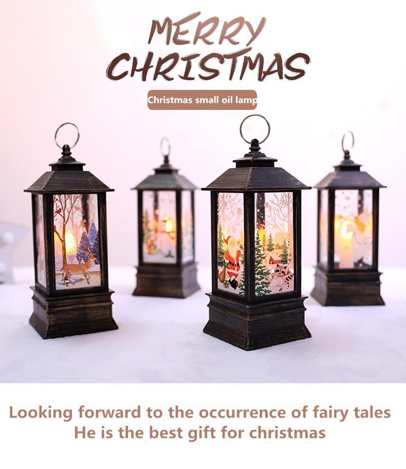 decoración de simulación de llama navidad de escritorio llevado de la lámpara de diseño de escena de luz portátiles pequeñas fuentes de la decoración de la lámpara de aceite al por mayor