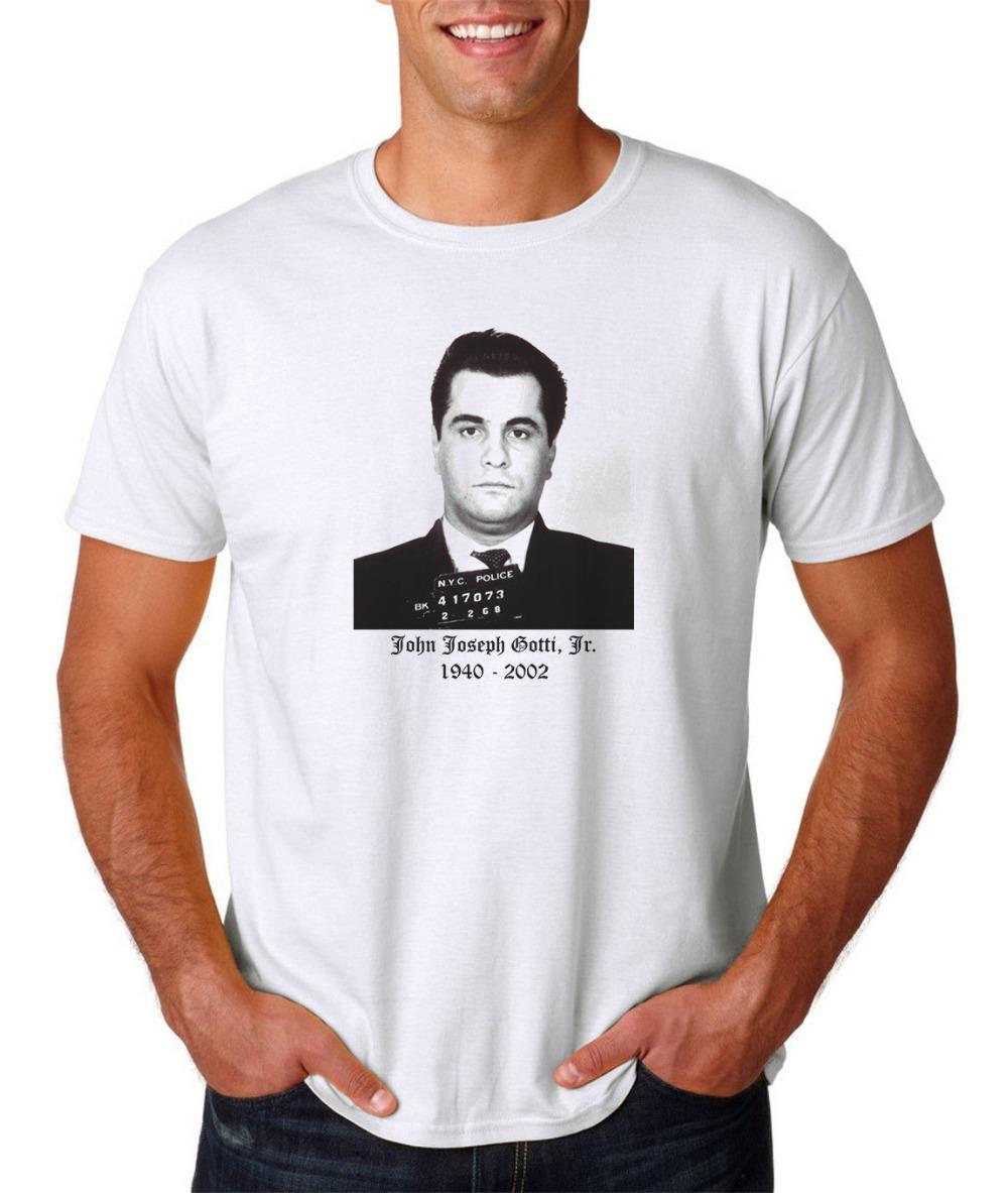 le sport John Gotti Tasse T-shirt Tir - Gangster Mafia Goodfellas Scarface Don parrain 2019 été de haute qualité Hommes Impression sur T-shirts