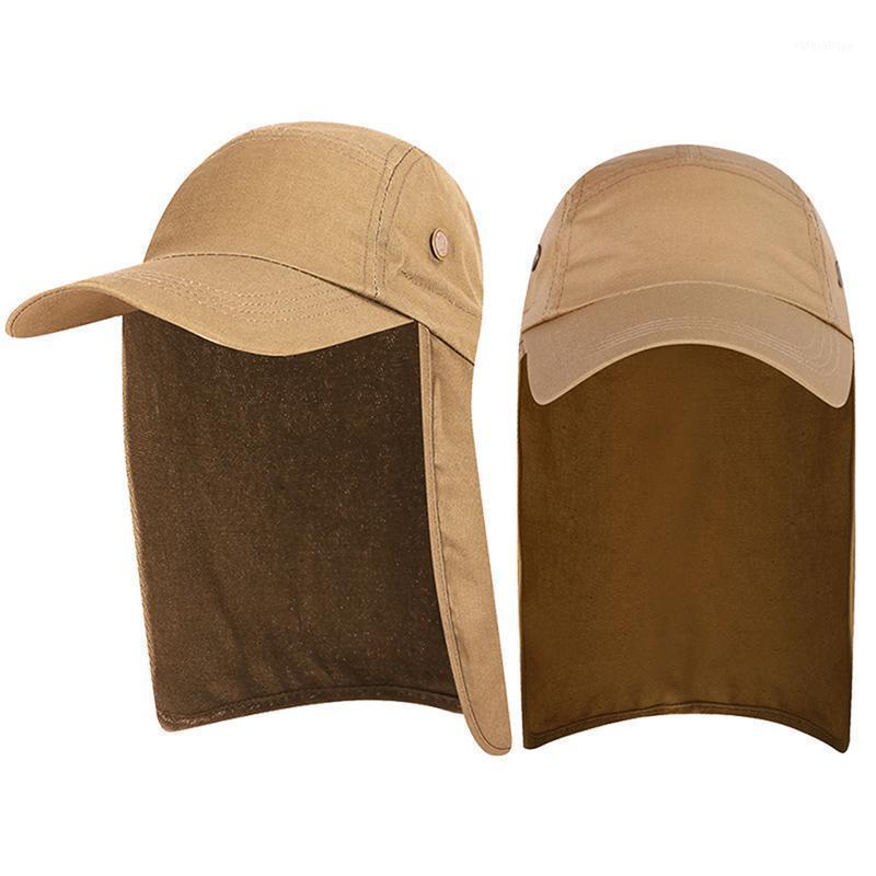 Unisexe Sun Protection Hat Protection UV Protection contre le visage FLAP Pache Sun Cap Face Man Cap Cap Hat Work Casual Summer1