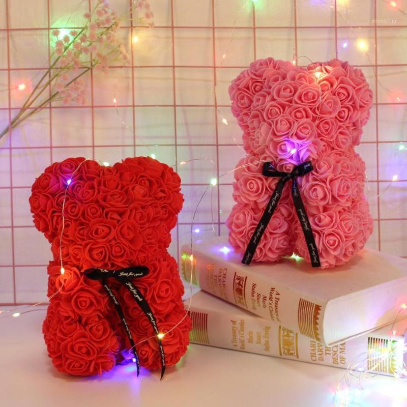 Декоративные Цветы Венки Цифу 25 см Пеноподъемник Розы Большой Тедди Роуз День святого Валентина Подарки Красная маленькая поддельная искусственная свадьба Decora