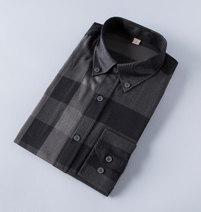뜨거운 판매 100 % 코튼 남성 패션 격자 무늬 셔츠 전체 슬리브 캐주얼 셔츠 캐미 사 사회 masculina chemise homme