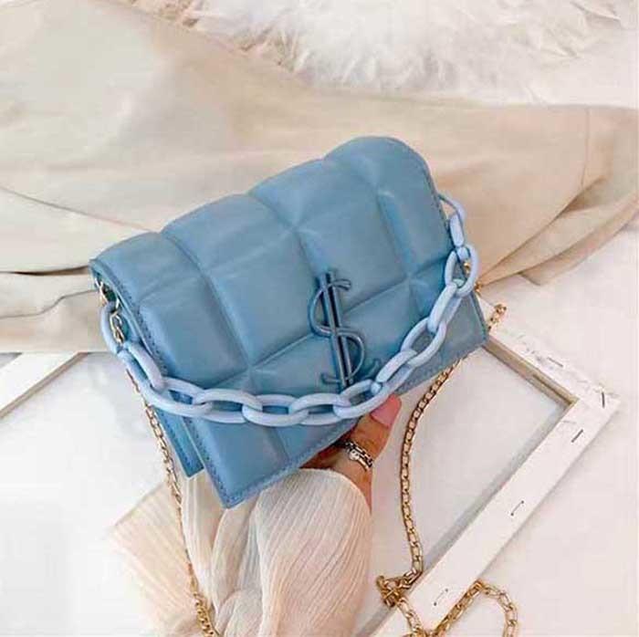 HBP New High Quality Ladies Borsa a tracolla di moda Chass classico Catena di plastica in pelle 658555