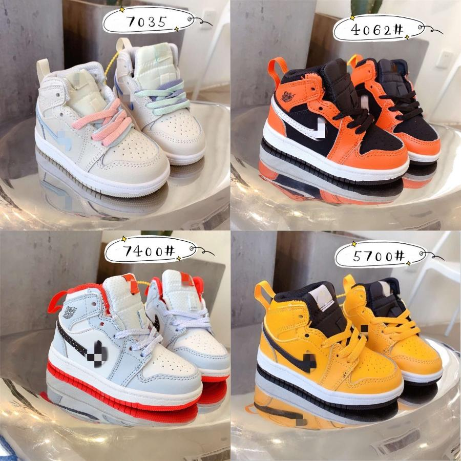 Luxury Designer Enfants 1S Space Jam Bred Concord Gym Rouge Off Chaussures de basket-ball blanc enfants de filles de garçon jeunesse de minuit marine Chaussures de sport # 469