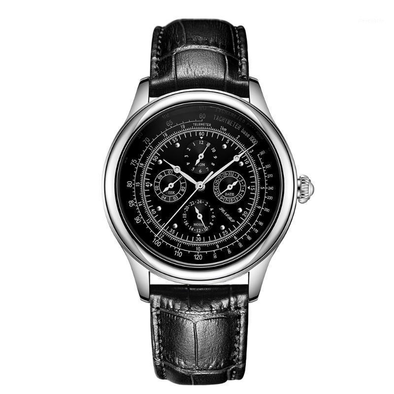Armbanduhren Senors Automatische mechanische Uhr für Männer Edelstahl Band Fall Mann Uhren Luxus wasserdicht SN0121