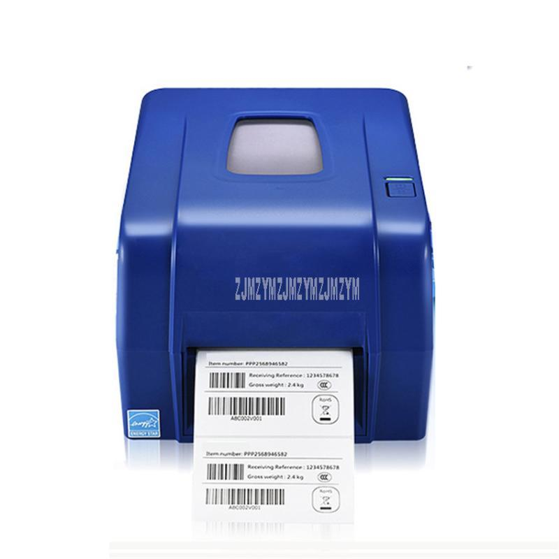 4T300 105.6mm Width Heat-transfer Printer Washing Mark Clothing Tag Barcode Sticker Printer 300dpi Thermal Label Print Machine