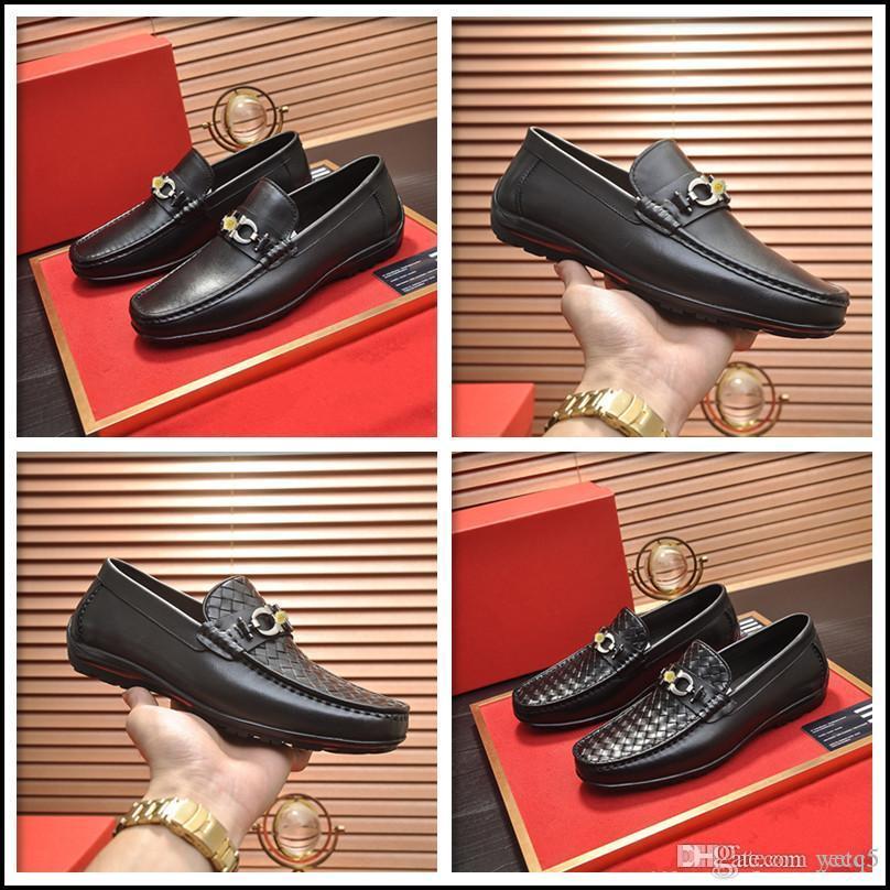 Q5 Big Size 6-22 Mens di lusso Oxford Shoes Leather Shoes Taglio Handmade Casual Casual Toe Lace Up Formal Business Uomo Abito da sposa Scarpe da sposa 22