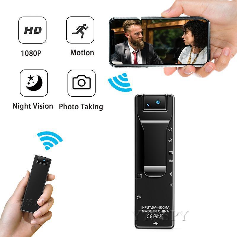 H.265 1080P WiFi 미니 카메라 IR 야간 투시경 모션 알람 DVR 레코더 비전 마이크로 캠 포켓 카마라 Espia 지원 숨겨진 TF CA 지원