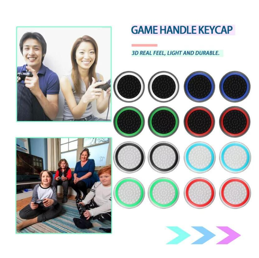 Double Color Thumb Stick Grip Silicon Cap Joystick Чехол Силиконовая крышка для PS4 Xbox One PS5 Xbox 360 контроллер