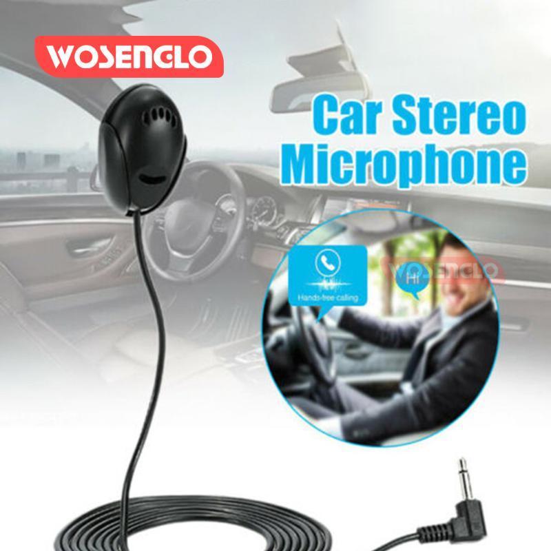 Araba DVD Bluetooth Stereo Radyo Ses Multimedya Video Player GPS Navigasyon MP5 için 2020 3.5mm Dış Mikrofon Mini Kablolu