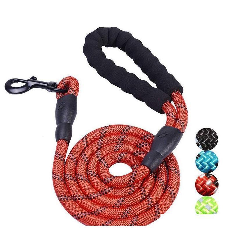 جديد مستلزمات الحيوانات الأليفة هوك حبل الحبل الدائرية حبل الجر مع ضوء عاكس ضوء الكلب الكلب النايلون حزام مناسب للمتوسط / كبير كاكو