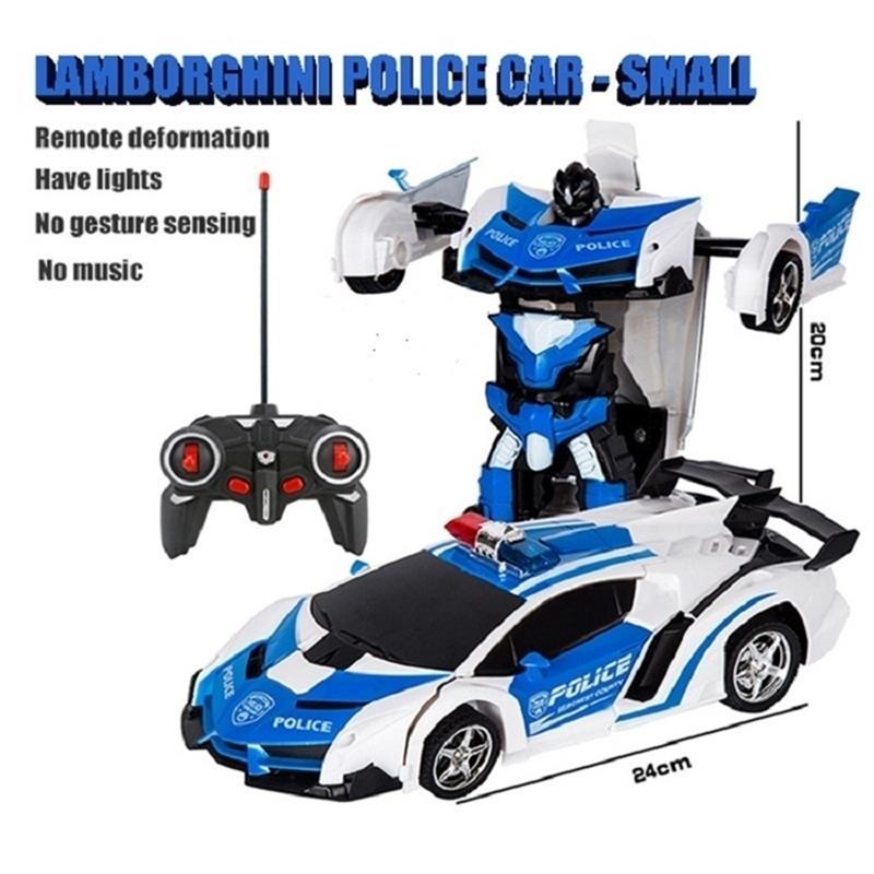 Электрический автомобиль RC CAR трансформация роботы спортивный автомобиль модель роботы игрушки дистанционные крутые RC деформации автомобили детские игрушки подарки для B 201223