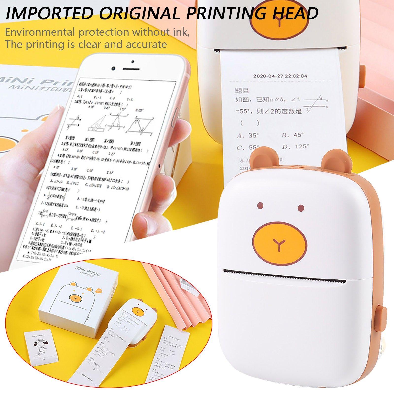 Тепловой портативный Bluetooth принтер 58 мм Мини беспроводной POS Thermal Image Photo Принтер для Android iOS на мобильном телефоне