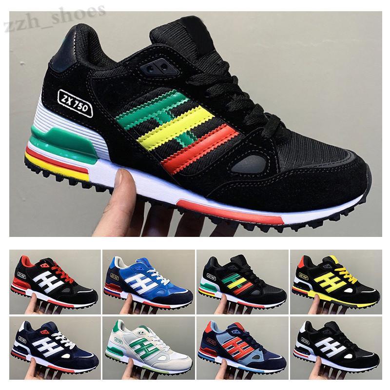 Adidas Originals ZX750 2020 ZX750 Ayakkabı Sneakers ZX 750 Erkek Bayan Beyaz Kırmızı Mavi Nefes Atletik Açık Spor Koşu Yürüyüş Ayakkabıları Boyutu 36-45 PR07