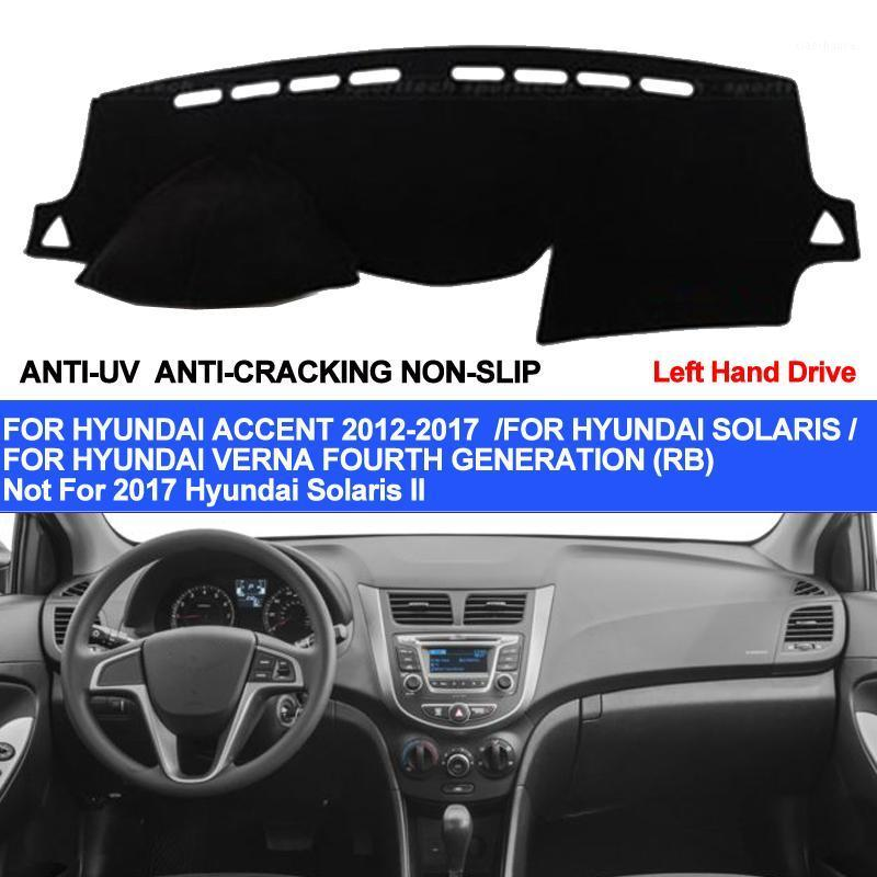 Taijs Car Dashboard Cover pour Accent Verna 2012 2014 2014 2015 2017 2017 2017 Solaris Dash Tapis Tapis Anti-UV Anti-Slip1