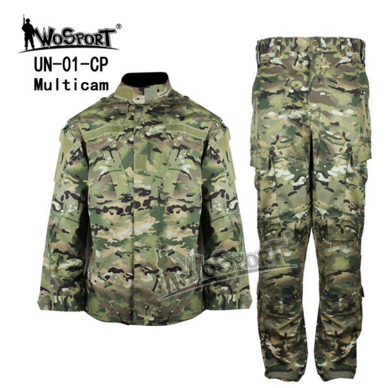 WOSPORT CS Uniforme Tático Acu Camuflagem Roupas Exército Combate Hunting Roupas Batalha Uniforme Jaqueta Calças Terno