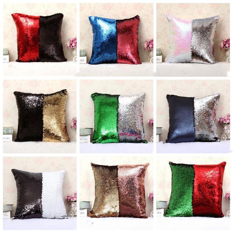 Mermaid Pailletten Magie Reversible Pailletten Kissenbezüge Home Dekorative Cover Office Sofa Kissen Kissenbezug OWB1151