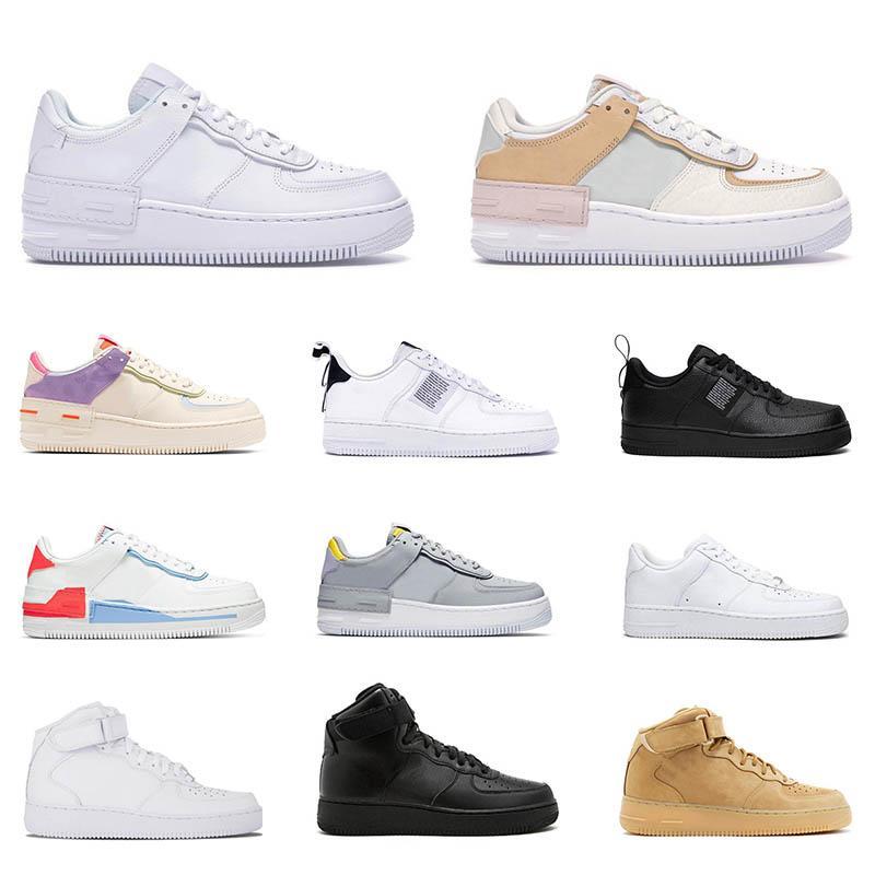 force 1  Klasik Presto BR QS Bayan Erkek Koşu Ayakkabıları Üçlü beyaz siyah Açgözlü Oreo Sarı Kırmızı mavi Ucuz Sneakers Nefes spor spor 36-45