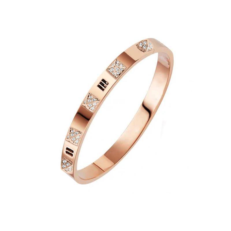 Классические роскоши дизайнерские украшения женские браслеты с кристально мужские золотые браслеты из нержавеющей стали 18k любовь браслет браслет браччали
