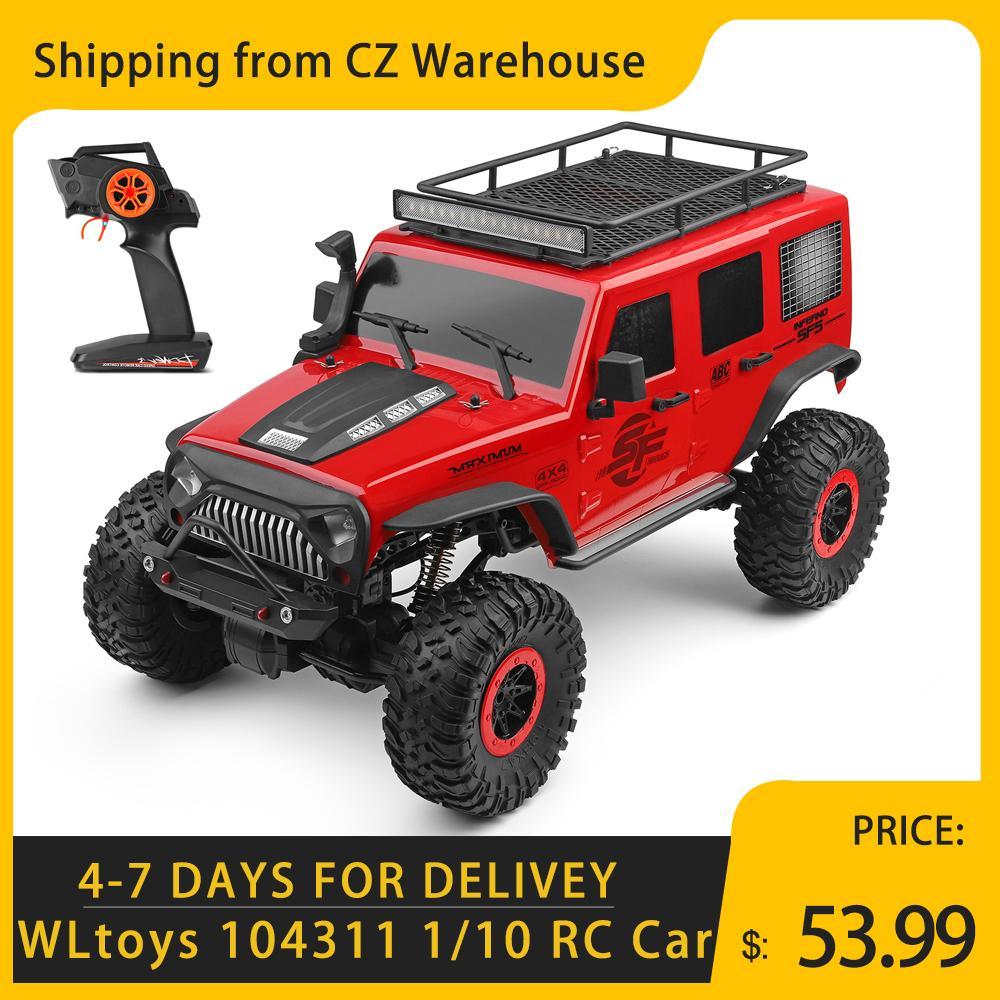 WLToys 104311 RC Auto 2.4G 1/10 4WD Jeep Auto SUV gebürstet Motor Fernbedienung Off-Road Crawler Auto Spielzeug für Kinder 201105