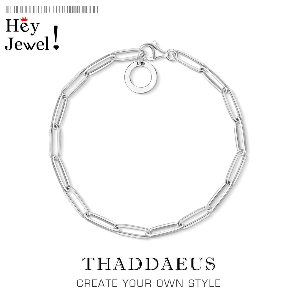 Link Chain Charm Bracelets,2020 Summer Brand New Trendy Gift for Women Men,Thomas 925 Sterling Silver Fashion Jewelry Acessories 1028