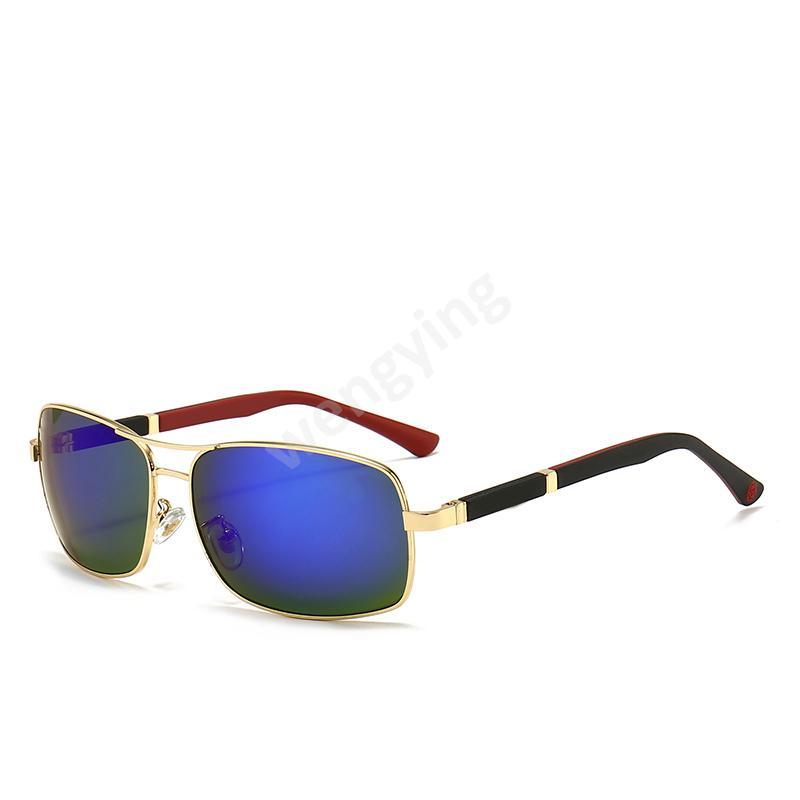 Высококачественный модный бренд дизайнер поляризованные солнцезащитные очки женщины вождения очки металлические рамки солнцезащитные очки UV400 очки с свободным чехлом