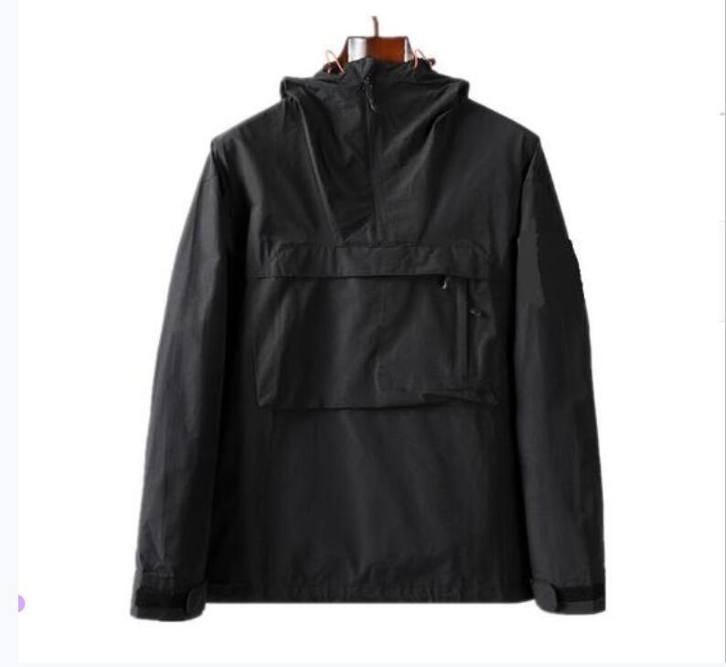 Topstoney 2020 New Hooded Half Reißverschluss Pocket Jacket Jugend Mode Europäische und amerikanische Casual Jacke Herrenmantel Nylon Stoff Herrenhülle